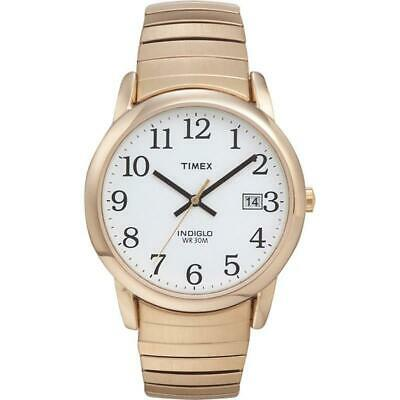 Timex Mens Classic Easy Reader Expandable Gold Tone Bracelet Watch T2H301