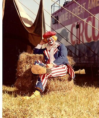 1984 - Great American Circus - Elmo Gibb, Advance Clown