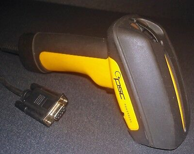 PSC PowerScan LR PSLR-1000 Laser Barcode Scanner w/ RS-232 Serial Cable 9-Pin