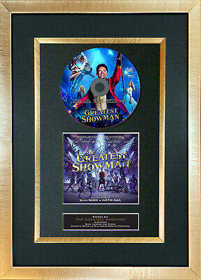 #169 THE GREATEST SHOWMAN Cd Album Signed Autograph Mounted Reproduction A4