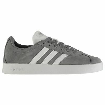 adidas Kids VL Court Suede Junior Trainers Lace Up Sports Skate Shoes Low Top