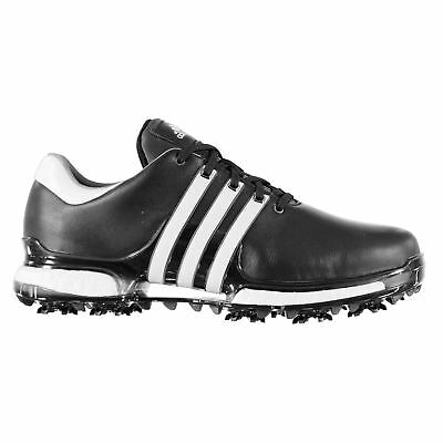adidas Mens Tour 360 Boost Golf Shoes Spiked Lace Up Padded Ankle Collar Studs