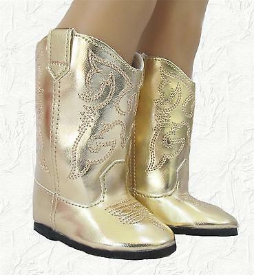 Doll Clothes Boots Cowboy Gold fit 18 inch American Girl
