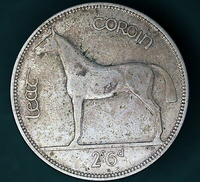 1933 Irish Ireland Half Crown 2/6 EIRE Silver 750 nice coin *[13300]