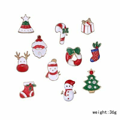 Fashion Christmas Santa Claus Small Brooches Pins Women Jewelry Holiday Gift New