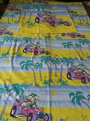 Donald Duck Tick Trick U Bettwäsche Disney Vintage 7080er Fabric
