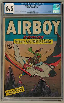 Airboy Comics #v2 #11 CGC 6.5 (C-OW) 1st Issue Formerly Air Fighters Comics