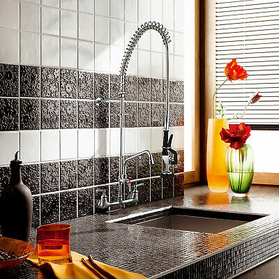 """Aquaterior Pre-Rinse Swivel Spout Sink Faucet 12"""" Add-On Faucet Commercial CUPC"""