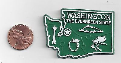 Washington  Wa  The Evergreen      State Outline Map Magnet,    New