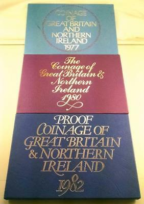 1977, 1980, 1982 Coinage Of Great Britain And Northern Ireland Coin Sets