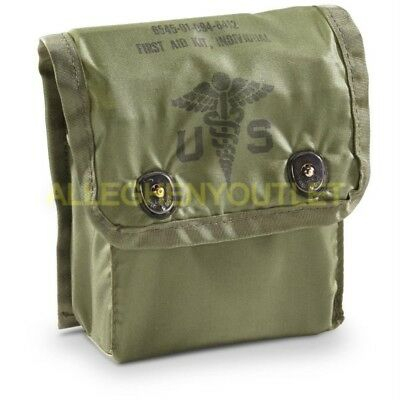 USGI 1980s Era Individual First Aid Kit (IFAK) POUCH ONLY OD Green VERY GOOD