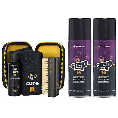 Crep Protect Cure Travel Kit + 2 Rain & Stain Shoe Spray (Combo) with Free Gift