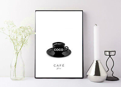 print/poster photography of miss coco chanel coffe expresso photo