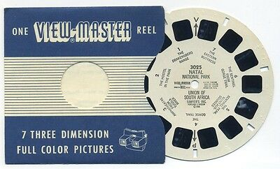 NATAL National Park Union of South Africa 1948 RARE ViewMaster Reel 3025