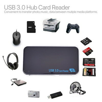 Multi Memory Card Reader USB3.0 High Speed Compact Flash  Adapter CF Micro SD TF