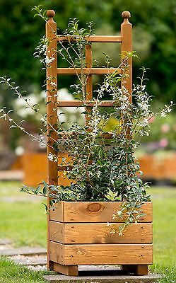 Skye Trellis Planter Tom Chambers Wooden Planter With Trellis