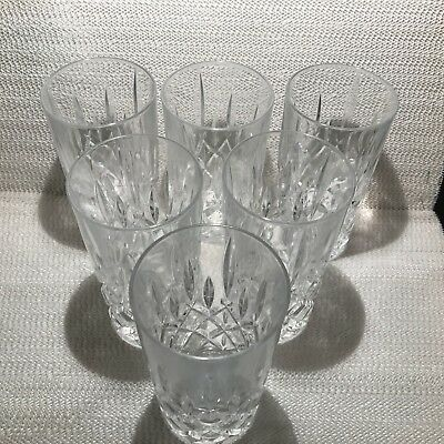 "(6)  Gorham Crystal Highball Glasses--Lady Anne ""signature"" Design--6 In--Superb"
