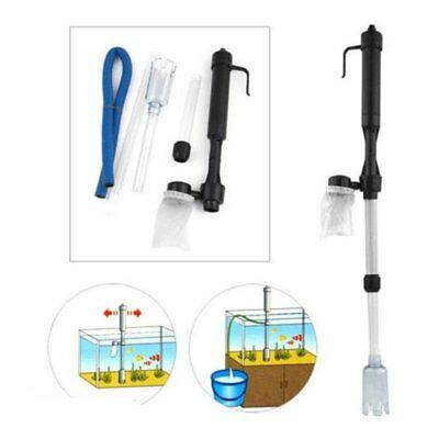 Battery Gravel Vacuum Cleaner Aquarium Fish Tank Cleaning Syphon Water Vac Wq