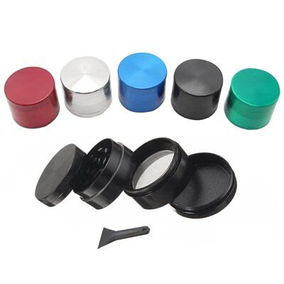 Sharp Teeth 4 Layers Tobacco 40Mm Herb Grinder Crusher Spice Pollinator New Gwq