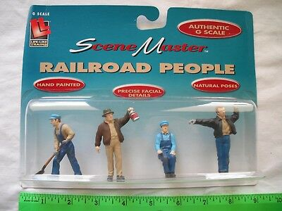 Life-Like 1805 Railroad People, RR Working Men, Standing Figures, G Scale