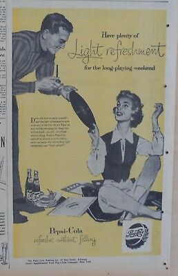 1957 newspaper ad for Pepsi - Jazz records & Pepsi, long playing weekend