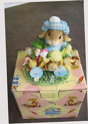 1996 My Blushing Bunnies-An Abundance Of Blessings Figurine With Box And Coa