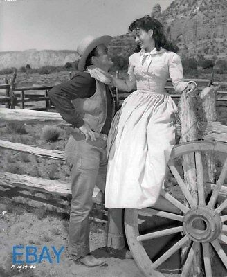 John Wayne Gail Russell candid on set Photo From Original Negative