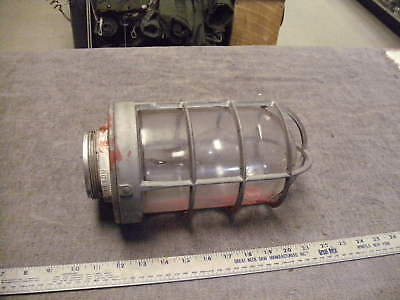 APPLETON Form 200 Explosion Proof Industrial Light Fixture Steampunk, Used