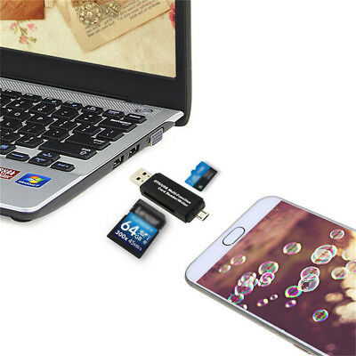 With Standard USB Male Micro USB OTG To USB 2.0 Adapter SD/Micro SD Card Reader