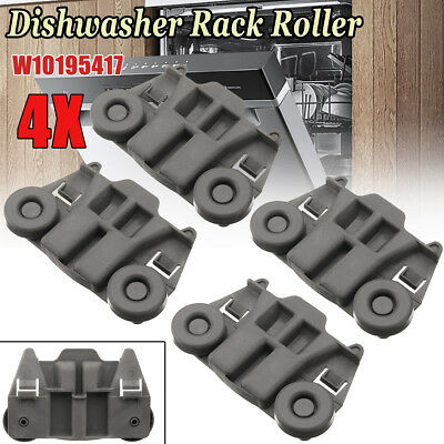 4pcs Dishrack Dishwasher Rack Roller For KitchenAid Whirlpool Maytag W10195417