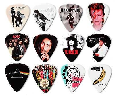 Iconic and Famous Album Covers 12 Guitar Picks Plectrums