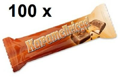 100 x Mini Schoko Karamellriegel ! Top Giveaway für Party Messe Wurfmaterial