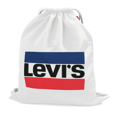 Levi's Unisex Turnbeutel Sport Everyday Gym Bag Sportswear Logo Weiss Weiß White