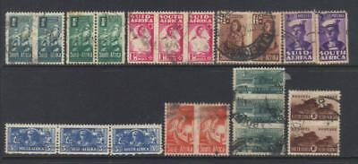 South Africa 1942-1944 9 Used Values Cat £40+