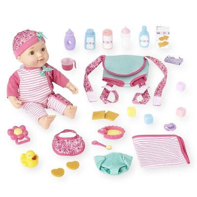 You & Me Pink Baby Doll with Carrier Playset