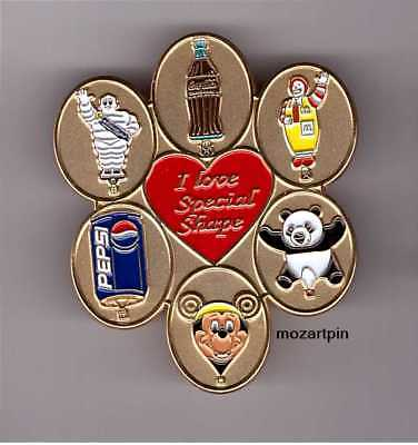 HOT AIR  BALLOON PIN PANDA COKE - PEPSI - Mc DONALD -MICHELIN - MICKEY