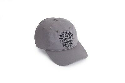 GENUINE Triumph Motorcycles Bonneville Classic Grey Baseball Cap NEW 2018