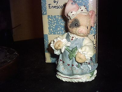 1995 This Little Piggy Sow In Love Figurine With Box