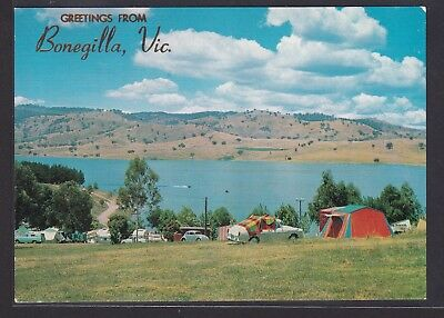 A2381 AK. Bonegilla, Vic. The Camping Ground and Lake Hume at the Hume Weir, N.S