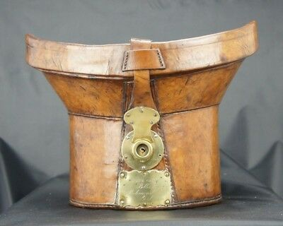 Stunning T Shape Early English Antique Bucket Hatbox Top Hat