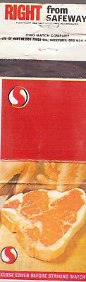 Right From Safeway-Ohio Match Company-Empty-One 1/2 Inches Width
