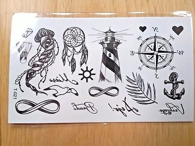 SMALL SYMBOL TATTOOS 110mm X 60mm T021