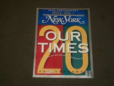 1988 April 4 New York Magazine - 20Th Anniversary - Our Times - B 2178