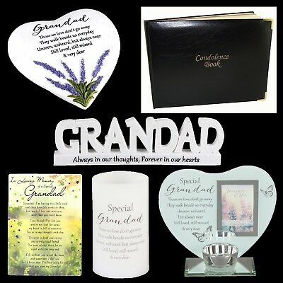 Grandad Graveside Memorial Memory Plaque, Candle, Card - Choose Design