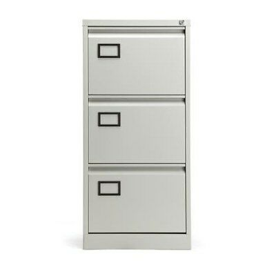 New RS Pro Home Office 3 Drawer Steel Filing Cabinet Foolscap Files F1MA