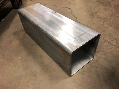 "6"" x 6"" x 17.5"" Long (1/4"" 0.25"" Wall) 304 Stainless Steel Square Tube"