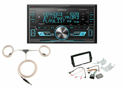Kenwood Bluetooth Radio, Install Kit, Marine Antenna Fits 2014-Up Harleys