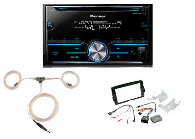 Pioneer CD Bluetooth Receiver,Install Kit, Marine Antenna (Fits 2014-Up Harleys)