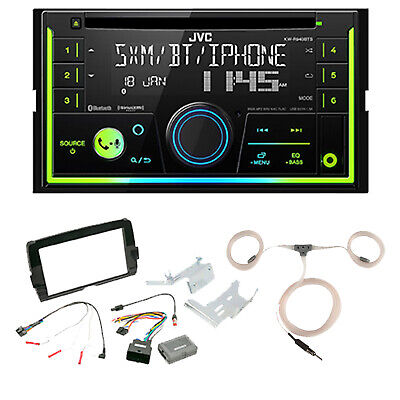 JVC CD Bluetooth Radio, Install Kit, Marine Antenna (Fits 2014-Up Harleys)