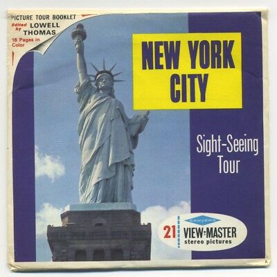 New York City New York Sight-Seeing Tour Sawyer's ViewMaster Packet A-654